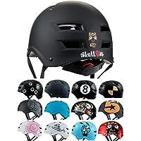 Skullcap® Casco BMX - Casco Skate - Casco Bici, Casco Bici Montaña, Negro, Talla L, Dark World