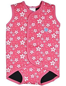 Splash About, Costume da bagno in neoprene per neonati, Rosa (Pink Blossom), 6-18 mesi