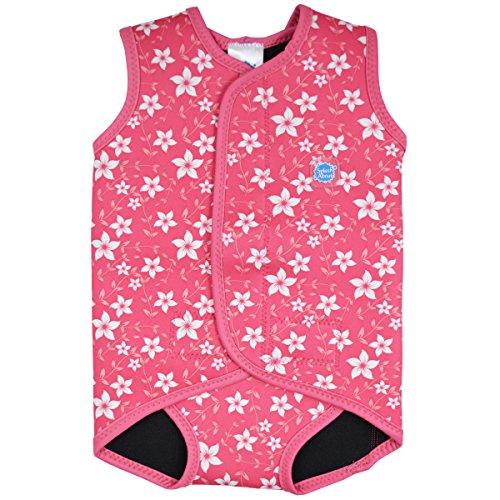 Splash About Baby Neoprenanzug, Rosa(Rosa Blüte), Gr.S(0-6 Monate), BWPBS (Baby Jungen Schwimmen Kostüme 0 3 Monate)