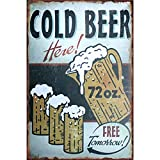 YOMIA Bar Blechschilder Craft Ice Cold Beer Painting Poster Vintage Blech Schilder Metallschild Eisen Gemälde Bar Pub Wall Decor