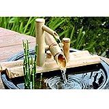 zenggp Fontana di Accenti di bambù Beccuccio d'Acqua con Pompa Decorazione da Giardino Cascata Giardino Giapponese All'aperto,50cm