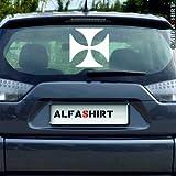 Aufkleber / Sticker - Kreuz Ek Wk1 Oldschool Tuning passend für VW Golf GTI, BMW 3er 23i Ford Ka Audi A3 Heckscheiben Aufkleber (weiß, 30x30) #A214