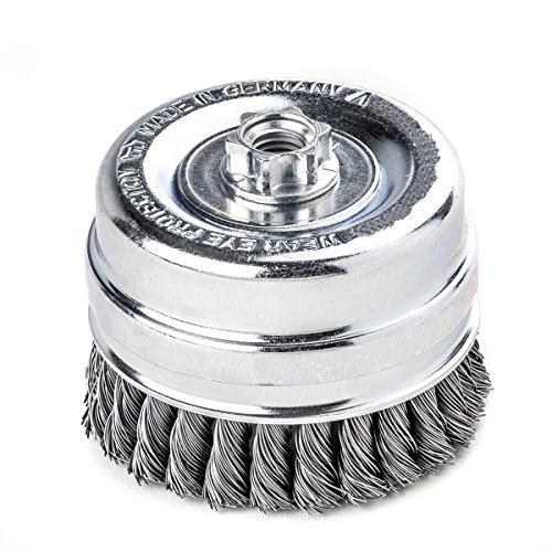 less Homme tresse Bague support de brosse pot avec 100 mm 26 Z STH lisse 0,35 mm GEW. M 14, 486117