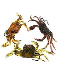 Coque Rigide 3yosoo douce poissons leurres de pêche Crabe appât leurre avec Sharp Crochets Simulation eau salée