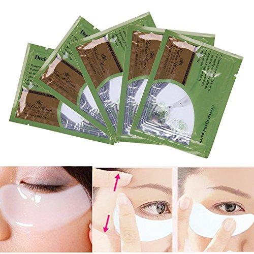 5PCS Eye Zone Care Pad Kristall Collagen Eye Gesichtsmaske Augenlid Augen Feuchtigkeit Pad reduzieren Falten Taschen und dunkle Kreise