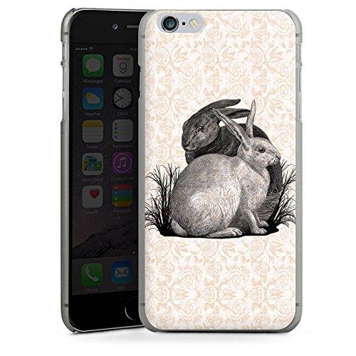 Apple iPhone X Silikon Hülle Case Schutzhülle Hase Häschen Hasen Hard Case anthrazit-klar