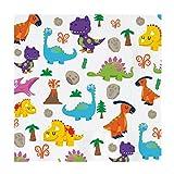 Maxi Products Tovaglioli di carta decorata con Dino design - ideale decorate per le feste di compleanno dei bambini - 33 x 33 cm - 20 unità