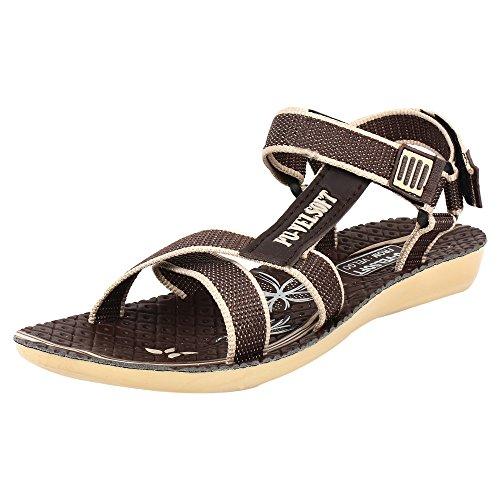 Earton Women/Girls Brown-958 Sandals & Floaters (5, Brown)