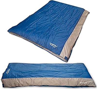 Andes Paruma Sleeping Bag – Single Convertible – 400GSM Hollow Fibre Filing – 4 Season Adult from Andes