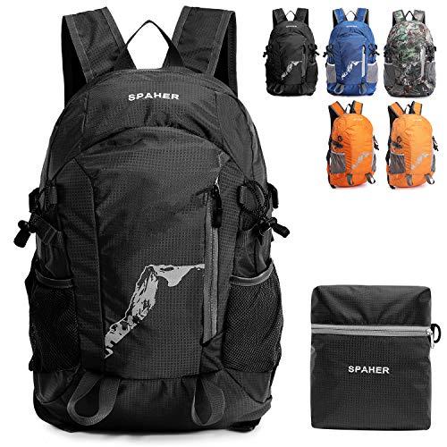 514e2L9HXHL. SS500  - SPAHER Ultralight Packaway Hiking Backpack Trekking Rucksack For Men and Women Foldaway Daypack Shoulder Bag Waterproof Outdoor Unisex Cycling Holdall Flight Bag School Bag Camping Travelling Bag 25L