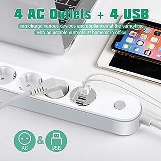 Steckdosenleiste mit USB Bild