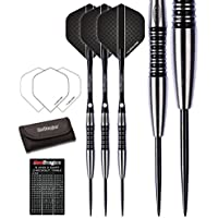 Red Dragon Fusion 90% Tungsten Darts Set (Steel Dartpfeile) mit Flights, Schäfte, Brieftasche, Checkout Card