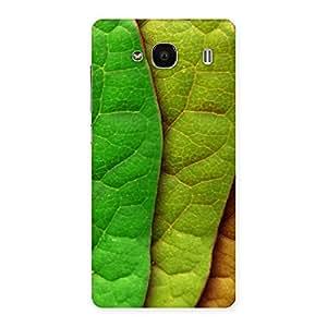 Stylish Pattern Leaf Back Case Cover for Redmi 2 Prime
