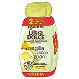 Garnier Ultra Dolce Shampoo Reiniger Argilla Dolce und Cedro für Zelt Infett ohne Parabene Nanturale Extrakte 300 ml, 3 Packungen mit je 2 Stück