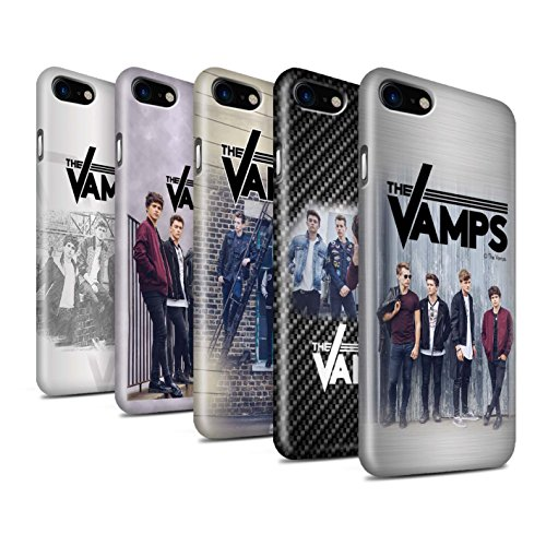 Offiziell The Vamps Hülle / Glanz Snap-On Case für Apple iPhone 8 / Pack 6pcs Muster / The Vamps Fotoshoot Kollektion Pack 6pcs