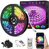 Olafus Smart Striscia LED 10M, Striscia LED WiFi Intelligente Compatibile con Alexa e Google Assistante, RGB LED Strip Controllo da APP, Luce Synch alla Musica, 16 Milioni Colore per Decorare Festa