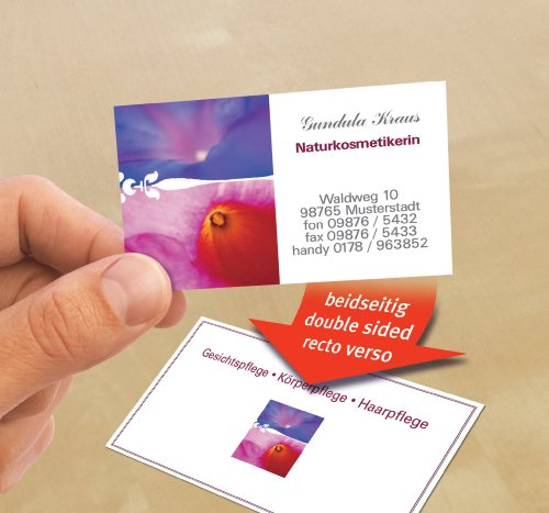 Avery zweckform c32015 25 premium business cards special inkjet avery zweckform c32015 25 premium business cards special inkjet coating on both reheart Image collections
