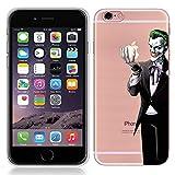 Coque pour iPhone 7Plus 14cm Coque'Joker' Blanc Transparent TPU Soft Coque en...