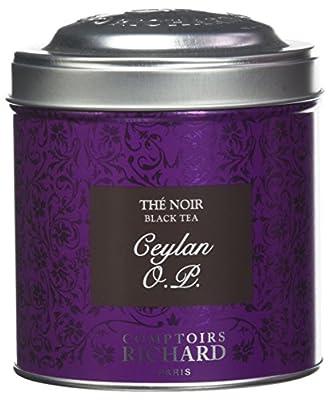 Comptoirs Richard Thé Noir Ceylan OP Boîte Métal Vrac 80 g