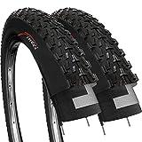 Fincci Paire 26 x 2,35 Pouces 57-559 Pneus pour VTT Montagne Fuoristrada Vélo Bicyclette (Un Paquet de 2)
