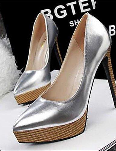 WSS 2016 Chaussures Femme-Habillé / Soirée & Evénement-Noir / Rose / Rouge / Blanc / Argent-Plateforme-Talons-Talons-Similicuir red-us6.5-7 / eu37 / uk4.5-5 / cn37