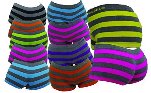 Moderei Hotpants Unterwäsche Dicke Streifen Grau Pack (7er, M/L)