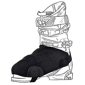 2 Stück Skischuhabdeckungen, Schneeverwehr Stiefelhandschuhe, Frostschutz, schützt Ihre Füße trocken und warm, universelle Skiausrüstung für Damen und Herren HZC281