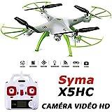 SYMA X5HC Drone Quadricoptère avec Camera Video HD 2MP - Nouvelle version 2016 du Modèle X5C et X5SC - Blanc