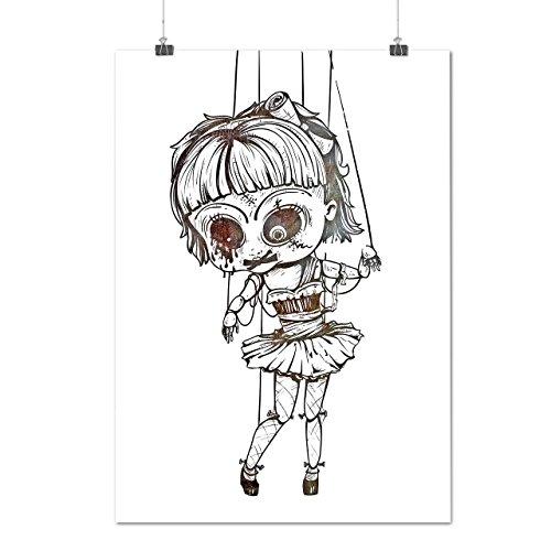 Undead Marionette Gruselig Puppe Mattes/Glänzende Plakat A3 (42cm x 30cm) | Wellcoda