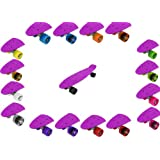 """Retro Cruiser Plastic Skateboard 22"""" X 6"""" Available In Various Deck Colours And Transparent Wheel Colours"""