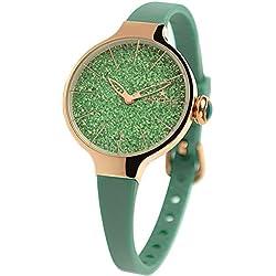 HOOPS Uhren Chérie glitter Damen Uhrzeit Grün - 2483LHRG-02