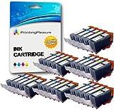 30 Tintenpatronen kompatibel zu PGI-520 CLI-521 für Canon Pixma MP540 MP540x MP550 MP560 MP620 MP620b MP630 MP640 MP980 MP990 MX860 MX870 iP3600 iP3680 iP4600 iP4680 iP4700 - Schwarz/Foto Schwarz/Cyan/Magenta/Gelb, hohe Kapazität