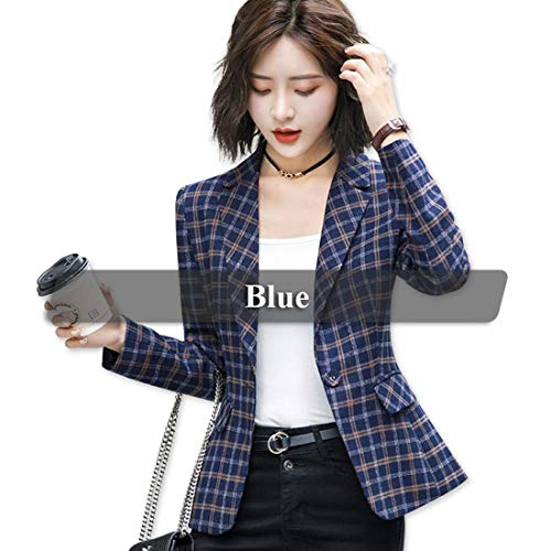 Sexy&live Soft and Comfortable Plaid Jacket with Pocket