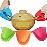 #1: Orpio Heat Resistant Silicone Microwave Oven Mitts Cooking Pinch Grips Glove Pot Holder