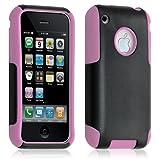 Housse étui coque pour Apple Iphone 3G/3GS couleur rose + Film de protection