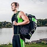 ZAOSU Triathlon- & Schwimm-Rucksack - Transition Bag | 45 Liter mit Nassfach für Schwimmbekleidung...