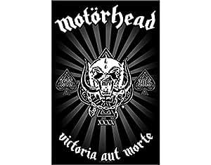 Motorhead Victoria Aut Morte Drapeau - Poster en tissu