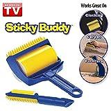 Moradiya Fresh Reusable Washable Sticky Buddy Lint Brush Roller Clothes Fluff Fur Hair Remover