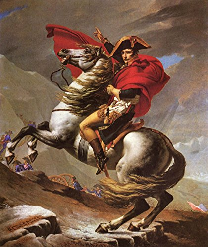 Das Museum Outlet-Napoleon Kreuzen The Great St. Bernard Pass von Jacques Louis David-Poster (61x 45,7cm)
