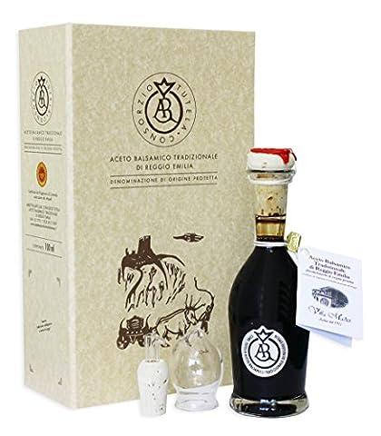 Aceto Balsamico Tradizionale di Reggio Emilia D.O.P. ARGENTO mind. 20 Jahre gereift in Geschenkverpackung