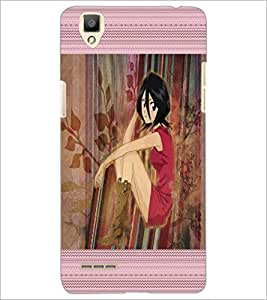 PrintDhaba Cute Girl D-4068 Back Case Cover for OPPO F1 (Multi-Coloured)
