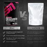 ESN Designer Whey, 2 x 1kg Beutel in allen Geschmacksrichtungen + Gratis ESN Shaker – 2kg direkt vom Hersteller 2 x Vanilla (Classic) - 4