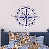 "Mairgwall rosa dei venti vinile da parete decalcomania casa e ufficio decorazione Teen Wall Stickers, Vinile, Blue, 22""h x22""w"
