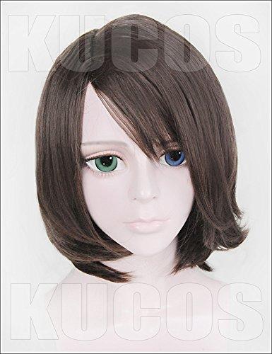 LanTing Cosplay Perücke Final Fantasy X-2 YUNA Brown Perücke Corta Cosplay Party Fashion Anime Human Costume Full wigs Synthetic Haar Heat Resistant Fiber -