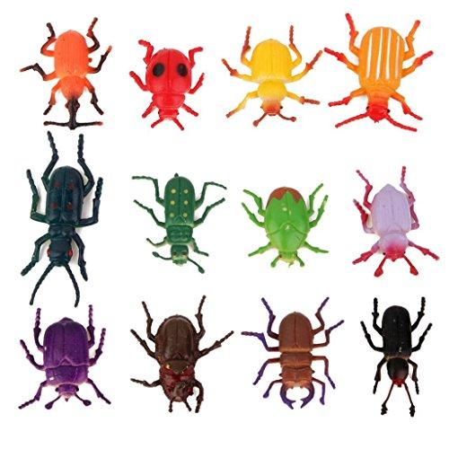 Naisicatar 12st Pretented Käfer Kunststoff Käfer Kinder Spielzeug-Partei Tricks 4cm interessantes Spielzeug