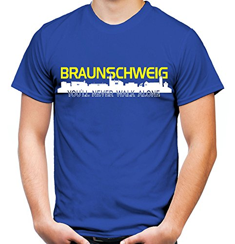 Braunschweig Skyline Männer und Herren T-Shirt | Fussball Ultras Geschenk Schwarz