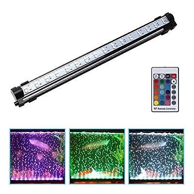 nonmon éclairage de l'aquarium RVB LED Bande avec lentille condensateur lumières sous-marines avec les bulles imperméable pour baignoire des poissons avec télécommande