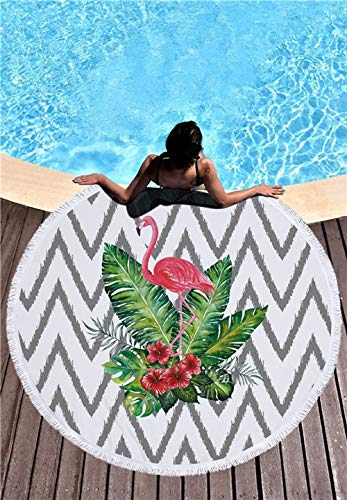 shioasho-xc-ushio-2019-newest-style-fashion-flamingo-450g-round-beach-towel-with-tassels-microfiber-