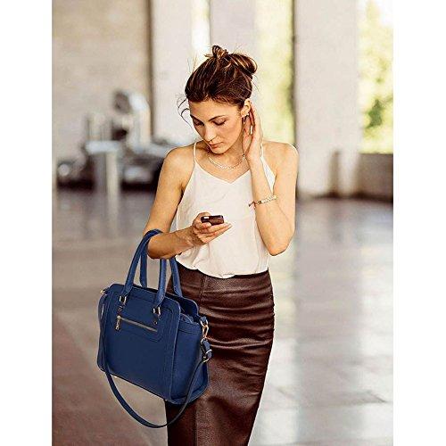 LeahWard Damen Zweifarbige Shaped schönes Elegante Handtaschen Tote Taschen Marine