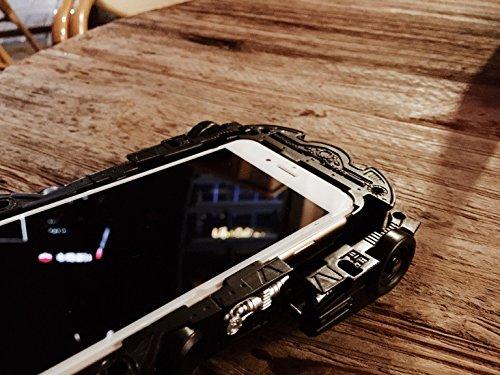 Coque iPhone 6 Plus/6s Plus , iNenk® Dur PC Bat luxe Chariot téléphone Shell noir protecteur voiture modèle Tide mâle Limited Edition Mobile marée affaire couverture créatif-Noir Black2
